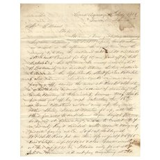 1854 Native American related ALS, white merchants purchase supplies from Indian Annuity Payments