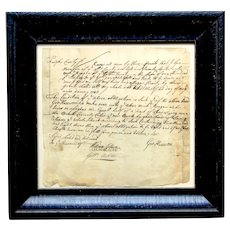 Early Virginia Loan Document with a Fairfax County, VA plantation as collateral, dated 1743