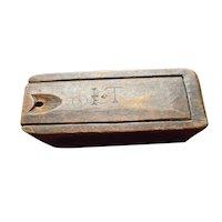 18th Century New England Slide Box with integral lock