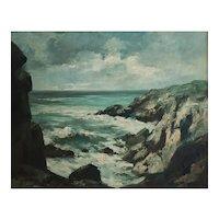 Coastal Landscape Painting, Impressionist Oil Landscape, Paul Henri Renier