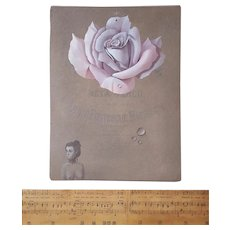 Don Clarke (1932-2012), Original Flower Painting, Modern Art, 1992