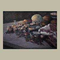 Still Life Oil Painting, Original Still Life Painting, Erwin Mistlberger (1931)