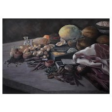 Still Life Oil Painting, Original Still Life Painting, Erwin Mistlberger (1931)