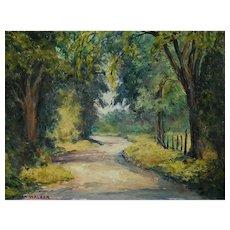 Canadian Landscape Painting, Impressionist Oil Painting, Vivian Walker (1903-1972)