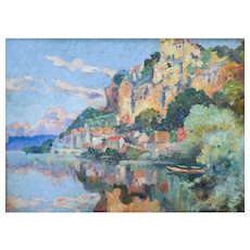 Oil Painting Landscape, Impressionist Art, Marius Hubert-Robert (1885-1966)