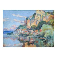 Oil Painting Landscape, Impressionist Artwork, Marius Hubert-Robert (1885-1966)