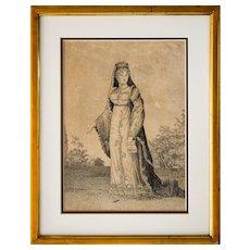 1820's Engraving, Madame Royal, Duchess of Angouleme, Michael Decrouan