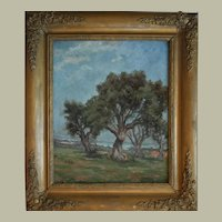 French Oil Painting, Original Provence Landscape Painting, Circa 1910
