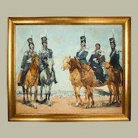 Horses Scene Painting, Military Portrait, Russian Art, Sergei Gavrilyachenko