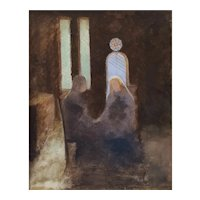 Laetitia Doumichaud (1865-1936), 19th Century Genre Scene Oil on Canvas Painting