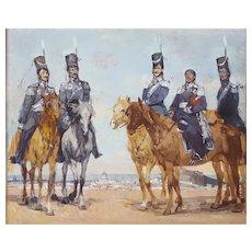 20th Century Oil Painting, Military Portrait Russian Art, Sergei Gavrilyachenko