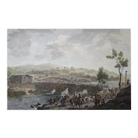 1812 Napoleonic Wars Battle Etching, Original British Engraving, Charles Heath (1785-1848)