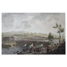 1812 Napoleonic Wars Battle Etching, Original British Engraving, Charles Heath (1785-1848)