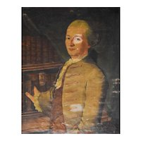 18th Century Portrait Painting, French Oil Portrait of a Man, To be Restored