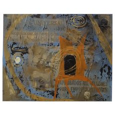 Original Collage Painting, 1975 Latin American Art, Luís Sosa