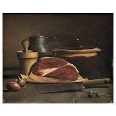 Léonie Lebas Still Life Painting,  1888 Oil on Canvas to be Restored