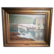 Boat Landing Isle of Shoals by American artist Harry Neyland