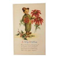 Dutch themed Christmas postcard