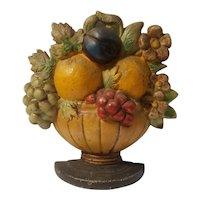 Hubley fruit basket cast iron doorstop