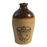 Old Continental whiskey mini jug