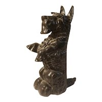 Cast iron scottie dog doorstop