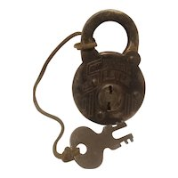 Secure lever padlock, steel, early 20th century