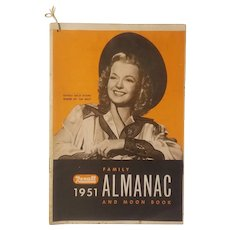 1951 Rexall Family Almanac with Dale Evans on the cover