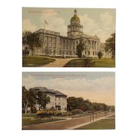 2 early 20th century Lincoln Nebraska postcards