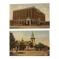 2 early 20th century Enid Oklahoma postcards