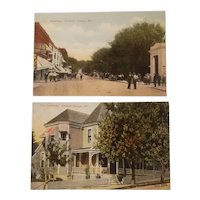 2 early 20th century Excelsior Springs Missouri postcards