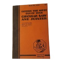 Circular saw and jointer manual published by Delta in 1937