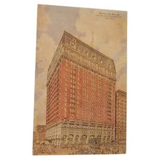 Hotel La Salle, Chicago room rates trade card