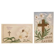 2 Early 20th century Easter postcards