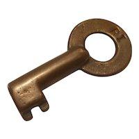 Rock Island Railroad brass key