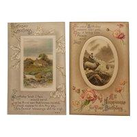 2 Early 20th century birthday postcards