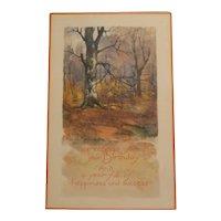 Early 20th century birthday greetings postcard