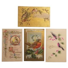Early 20th century holiday postcards