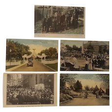 Early 20th century scenic and historical postcards