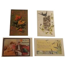 4 Early 20th century postcards