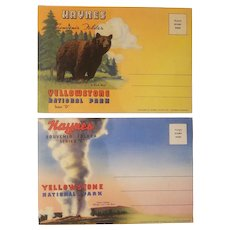 2 postcard booklets of Yellowstone