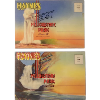 Yellowstone souvenir postcard booklets