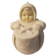 Snow babies little drummer jingle baby ornament