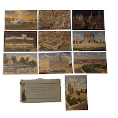 Set of 10 lenin postcards of Chicago