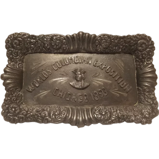 Columbian Exposition commemorative tray