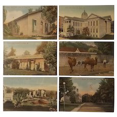 6 Scenic postcards depicting St. Joseph Missouri