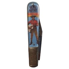 Gene Autrey themed pocket knife