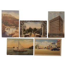 7 Scenic postcards from early to mid 20th century