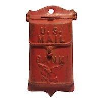 Cast iron hanging mail box bank