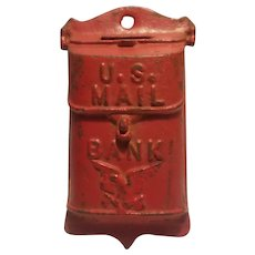 Cast iron hanging mail box bank