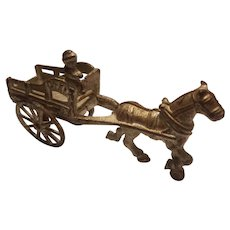 Cast iron coal cart 6 1/2 inches long